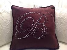 Bling Initial Personalised Cotton Cushion and Cover